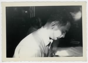 William E. Prettyman absorbed in his work