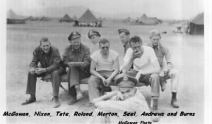 Peter Seel with other Officers, N. Africa, 1943