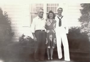 Bill with dad, Ernie and sister, Anna Margaret (Ann)