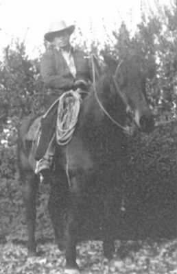 Leonard Raley astride Johnny