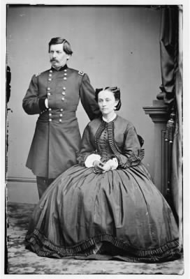 5112 - Portrait of Maj. Gen. George B. McClellan, officer of the Federal Army, and his wife, Ellen Mary Marcy › Page 1 - Fold3.com