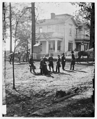 5235 - Atlanta, Georgia. Federal officers standing in front of house. (Formerly headquarters of Gen. John Bell Hood.) › Page 1 - Fold3.com
