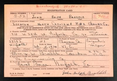 Example of damaged service record