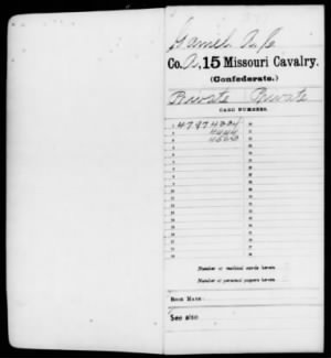 Confederate Service Records Pg 1