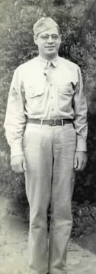 Art Gossett in his WWII Uniform. c. 1942