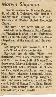 Marv Sr.'s Obituary