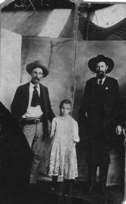 Buck Chamberlain, Daughter, and W J L Sullivan Photo.JPG