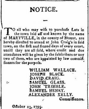 Wm Wallace 1795 Maryville Lots for Sale.JPG