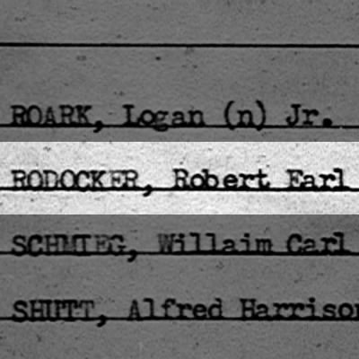 RODOCKER, Robert Earl