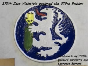 379th BS Jess Weinstein designed the 379th Emblem for the Squad in the MTO