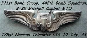"448th BS Norman Teinowitz ""Little Joe"" Crew /KIA"