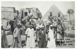"Robert KIllian on R and R in Egypt with his ""buddies"". 1944"