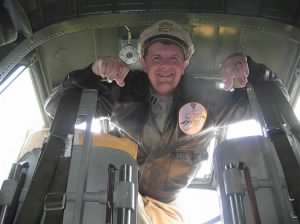 "5 May, 2011 ""Lynn Ritger"" (Nephew) inside the B-25 at a Show."
