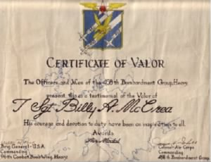 Certificate of Valor