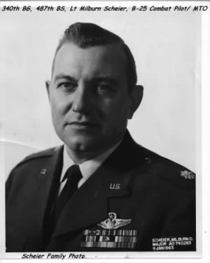 1960's picture of MAJ Mel Scheier, would go from a WWII Combat Lt Pilot to a Colonel!