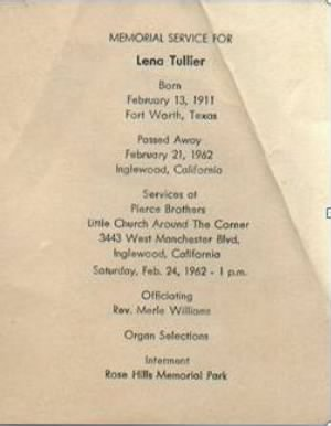 Lena Commander Tullier 1962 Memorial Card.JPG