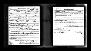 Robert Sterrett Frazer Jr World War I Draft Registration Cards, 1917-1918
