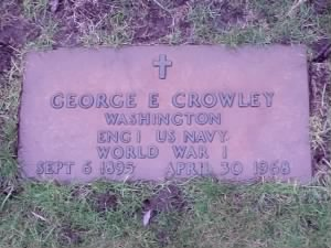 George E Crowley Headstone