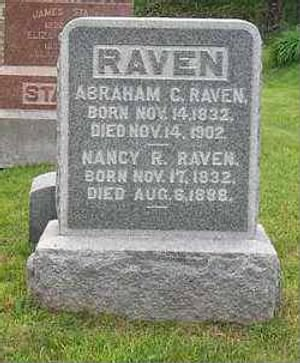 Corp Abraham C Raven Army Headstone