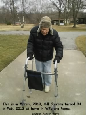 Bill Coursen turned 94 in Feb. 2013!  Out in the Sunshine at HOME in West-PA. - Fold3.com