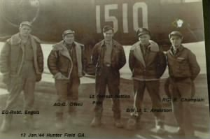 Lt Forrest T Nettles, Pilot leaving with his CREW to go over seas.