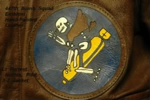 Lt Forrest Nettles was a Combat Pilot in the 321st BG, THIS is the 447th BOMB SQUAD EMBLEM!