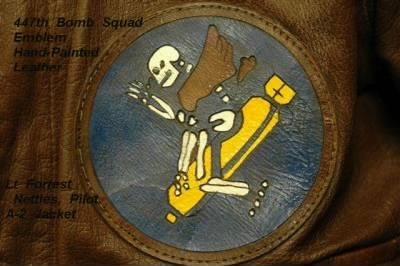 Lt Forrest Nettles was a Combat Pilot in the 321st BG, THIS is the 447th BOMB SQUAD EMBLEM! - Fold3.com