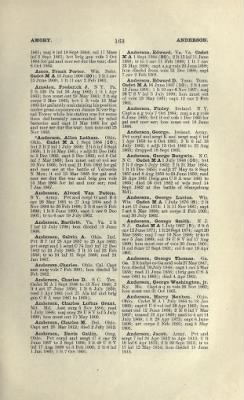 Part II - Complete Alphabetical List of Commissioned Officers of the Army › Page 15 - Fold3.com