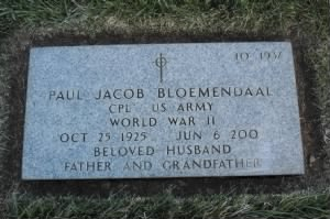Paul Jacob Bloemendaal Headstone