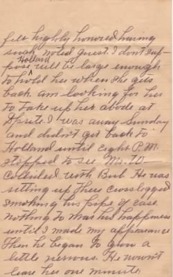 Letter from Dolph Barker to Lois Link dated 9 Jun 1909 - Pg2