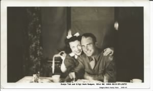 Herb and his gal Evelyn Tulk, Going-away party at Herb's parent's HOME.