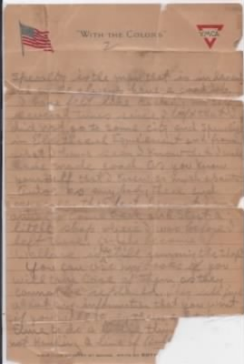 Letter from Private Smith to his brother