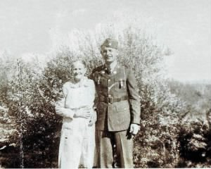 Ralph Scott and his Grandmother Mary Ellen Luck-Timmons