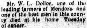 Wm L Dollar 1906 Death Notice.JPG