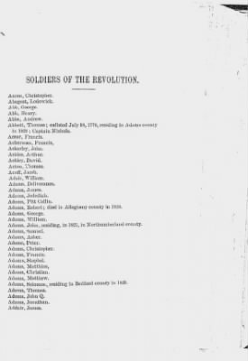 Alphabetical list of Revolutionary War soldiers