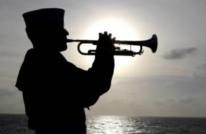 Sailor Blowing Taps