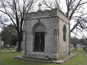 George M Cohan's mausoleum in Woodlawn Cemetery