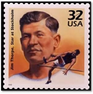 Jim Thorpe Stamp