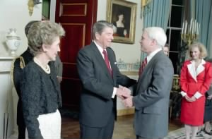 President Reagan and McCain, 1987