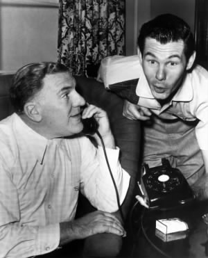 William Bendix and Johnny Carson, 1955