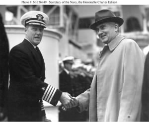 Secretary of the Navy, the Honorable Charles Edison