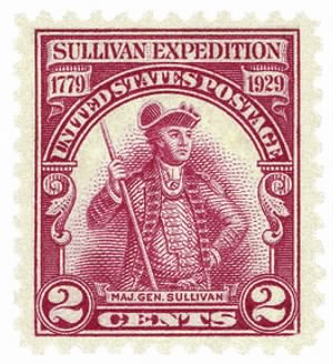 Postage stamp, USA, 1929: Gen. Sullivan's expedition of 1779