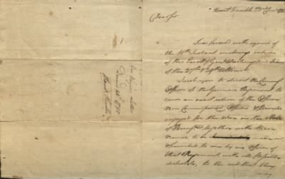Correspondence from General Anthony Wayne to Shreve on 22 December 1780.jpg