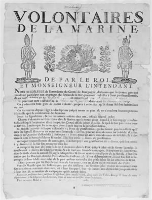 French Army Recruitment Poster during the Revolution.