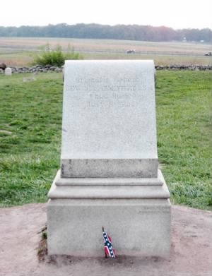Monument to Confederate Brigadier General Lewis Armistead  at the Angle at Gettysburg