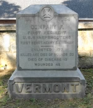 Vermont Sharpshooters 1st United States Sharpshooters, Company F