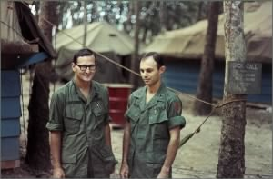 CPT Gary Lattimer MD & Other Doctor, Quan Loi, RVN 1968