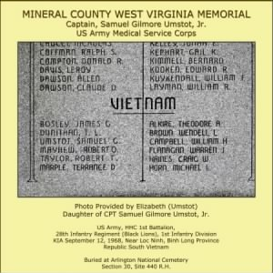 Umstot_Mineral County Memorial, Keyser West Virginia