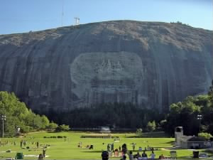The mountain and carving