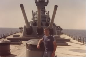 Aboard the U.S.S. New Jersey off the coast of Lebanon (1983).jpg